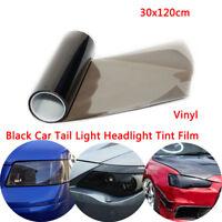 30X 120CM Light Smoke Tinting Film Fog Tail Lights Headlights Tint Car Van Wrap