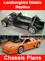 Lamborghini diablo Replica kit CHASSIS plans - parts list blueprints (download)