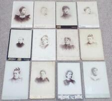Victorian Cabinet Photographs 12 Antique Photos of Women c1890
