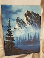 Roger Romanick Oil Painting Canadian Rockies  9 x 12