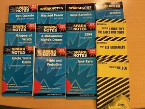 Lot of 13 CLIFF NOTES & SPARK NOTES assorted