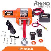 Treuil électriques 12v Récupération 4x4 Bateau 3000lb / 1360kg Winch - RHINO