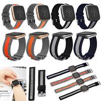Para Fitbit Versa, Versa 2/Lite Reloj Correa Pulsera Canvas Band Strap Bracelet
