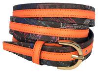 Cintura Alv By Alviero Martini Donna Arancio/Moka Belt Woman Orange Made In I...