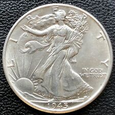 1945 Walking Liberty Half Dollar 50c High  Grade BU #18310