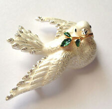 Joan Rivers Dove Symbol Of Peace Flights of Fantasy Pin Brooch