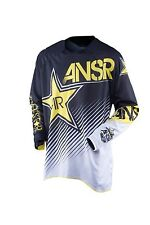 NOS ANSWER 459619 A16 ROCKSTAR VENTED JERSEY WHITE BLACK SIZE MENS LARGE