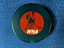 VINTAGE WHA BILTRITE BLUE SLUG - RED LEAGUE REVERSE GAME PUCK  B1 SLUG 1972