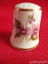 Masons Violet Flowers, (Gold Gilded) Collectors Thimbles