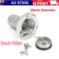 """1.5""""38mm Marine Fuel Boat Deck Fill/Filler Tank Cap 316 Stainless Steel with Key"""