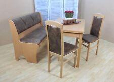 Essgruppe 4-tlg. Esstisch-Ausziehbar Truhenbank Stühle Farbe: Buche-Natur/Schoko