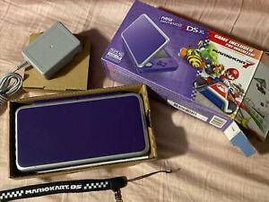 New Nintendo 2DS XL Mario Kart 7 Console Bundle - Purple/Silver