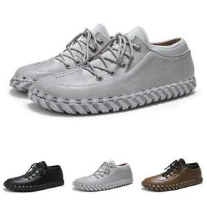 Mens Driving Moccasins Shoes Pumps Lace up Flats Breathable Sports Walking New L