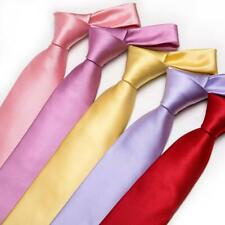 Mens Tie Solid Silk Necktie Hanky Set Red Blue Black Plain Wedding Geometric LOT