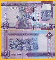 Gambia 50 Dalasis p-34 2015 UNC Banknote