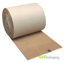 Corrugated Cardboard Rolls 300mm 75mtr Brown Wrapping Paper (0800)