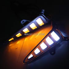White Amber Bumper Light Led Daytime Running Lamp Fog for Toyota C-HR CHR 2018