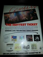 Genesis Live 1982 Hottest Ticket Rare Original Promo Poster Ad Framed!