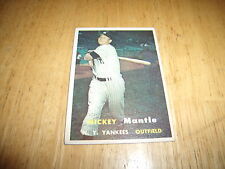 1957 Topps Mickey Mantle New York Yankees #95 Baseball Card