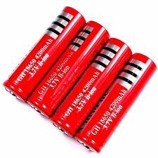 4 X de iones de litio Batería 3,7 V Li-ion 4200 mah tipo 18650 modellbau 65 x 18 mm