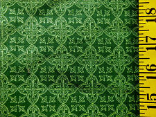 CELTIC MEDALLIONS ST. PATRICKS' DAY PRINT 100% COTTON FABRIC 16X43 INCHES