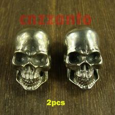 2pcs white copper Leathercraft Skull rivet stud Punk screw back Conchos Z228B