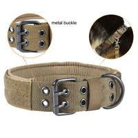 Adjustable Dog Canine Military Tactical Working Training Collar Necklace Nylon