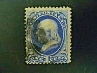 USA 1870 $.01  Franklin #145 Used - See Description & Images