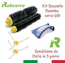 Kit Brush Spazzole Grigie Spazzolini Filtri Blu IRobot Roomba Serie 600 620 650