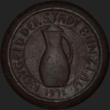 NOTGELD: 25 Pfennig 1921, Steinzeug. STADT BUNZLAU / SCHLESIEN ⇒ BOLESŁAWIEC.