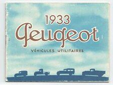 Catalogue PEUGEOT 1933