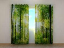 "Fotogardine ""Wald"" Vorhang 3D Fotodruck Fotovorhang mit Motiv Maßanfertigung"