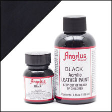 Angelus Black acrylic leather paint 1 oz. bottle