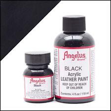 Angelus Black acrylic leather paint 1 oz. bottle