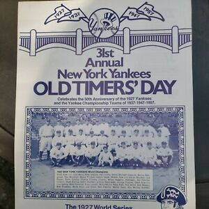 Signed 31st annual New York Yankees Oldtimers Day Mantle, Berra. Whitey, And...