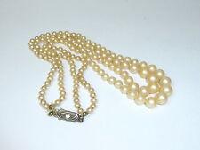 Perles pour collier Bijoux de mode um 1920 Argent B-2522