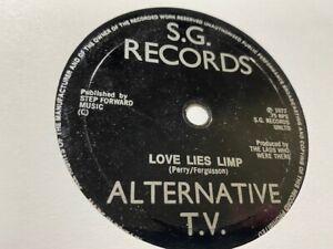 "ALTERNATIVE TV - 'Love Lies Limp' 45rpm SG Records 7"" VG Sniffin' Glue 12 FLEXI"