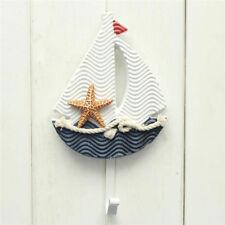 Bathroom Wall Mounted Hook Door Rack Hanger Hat Clothes Towel Hanger Boat