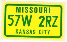 figurina U.S.A. TARGHE NUMBER PLATES EDIZIONE FIGURINA CLUB NEW MISSOURI