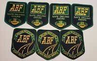 VINTAGE ABF ARKANSAS BEST FREIGHT Safe Driving Award Patch Lot of 7