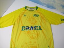 Brazil Soccer Football Jersey Men's CBF Shirt Drako One Size Yellow Green A13