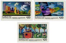 Chile 1985 #1178-1180 Defensa del Medio Ambiente MNH