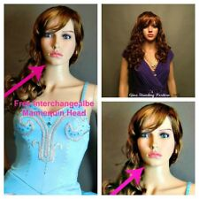 WOW! FEMALE MANNEQUIN FULL BODY LIGHT SKIN FREE WIG 2 HEADS/FACES FREE DELIVER