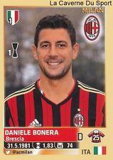 DANIELE BONERA # ITALIA AC.MILAN RARE UPDATE STICKER CALCIATORI 2014 PANINI