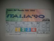 ticket fifa world cup 1990 cameroon v colombia game 37 soccer football