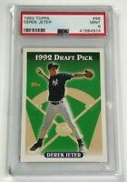 1993 Topps Derek Jeter Rookie #98 Yankees HOF RC PSA 9 Mint 1992 Draft Pick 🔥