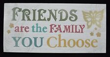 Friends Family Butterfly Wall Art Picture Wooden Sign Plaque Primitive Rustic