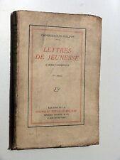 Charles-Louis Philippe LETTRES DE JEUNESSE à Henri Vandeputte NRF 1911 EO