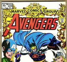 The AVENGERS #225 with Iron Man and The Wasp from Nov 1982 in Poor con. DM