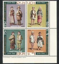 Nepal 1973 Traditional Costumes/Clothes/Textiles/Design/People 4v blk (n38835)
